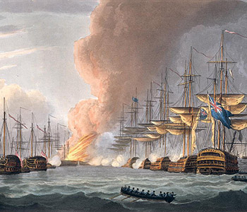 Destruction-of-the-Danish-Fleet-before-Copenhagen-1816-xx-Thomas-Whitcombe