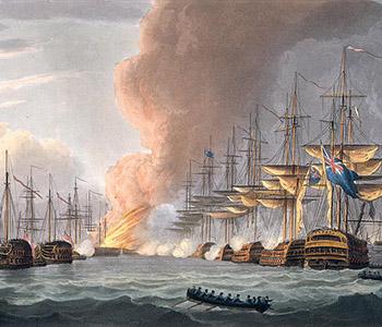 Destruction-of-the-Danish-Fleet-before-Copenhagen-1816-xx-Thomas-Whitcombe