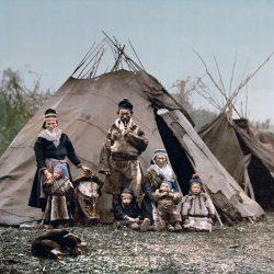Sámi obitelj oko 1900 g., Norveška.