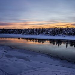 Rijeka Torne, Jukkasjärvi. Izvor: Asaf Kliger/imagebank.sweden.se