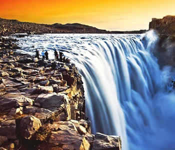 dettifoss-at-sunset