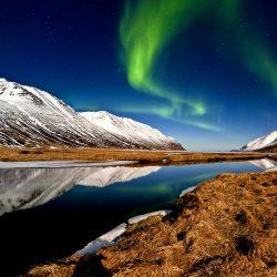 Héðinsfjörður, Island.