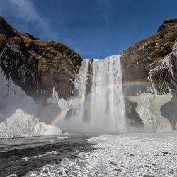 Vodopad Skogarfoss, Island.
