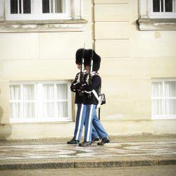 Počasna straža, palača Amalienborg. Izvor: NordicPoint