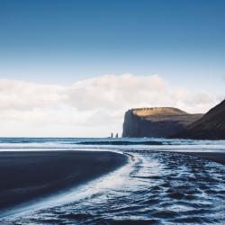 Black sand beach, Tjørnuvík